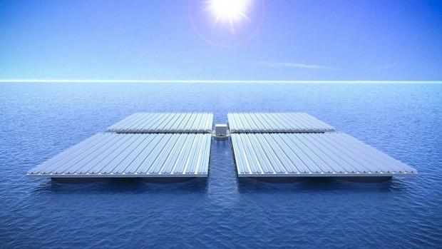 Outras equipes já propuseram a implantação de fazendas solares marinhas para suportar plantas de dessalinização da água, extração de biomassa marinha, parques aquáticos e até residências.[Imagem: TU Wien]