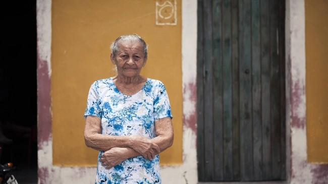 A aposentada Iraíris dos Santos Silva, 83. RAONI MADDALENA