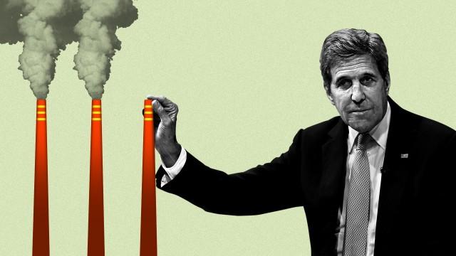 Jonh Kerry - Ilustração: Lazaro Gamio / Axios