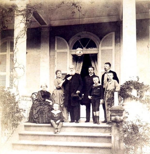 D.Pedro II, princesa Isabel e filhos