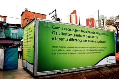 Container do posto de coleta - Foto de divulgação do Projeto, no site AES Brasil.