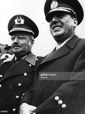 Juan Peron e General Ibanez, do Chile