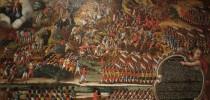 Ilustração em madeira da Batalha de Guararapes - observar as etnias nas forças brasileiras