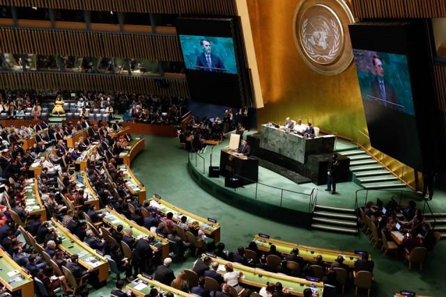 Presidente do Brasil, Jair Bolsonaro, discursa na ONU Foto: Carolina Antunes/PR