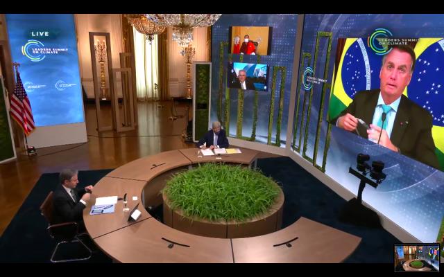Bolsonaro discursa na Cúpula do Clima (Cupula do Clima/reprodução)