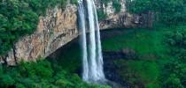 Cascata do Caracol, no Parque Estadual do Caracol no Rio Grande do Sul