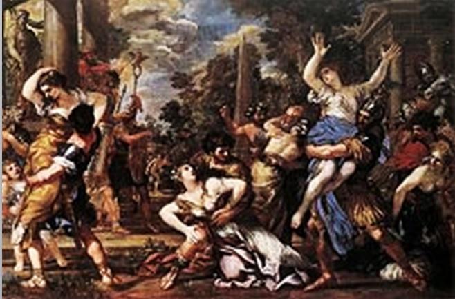 O Rapto das Sabinas de Pietro de Cortona (1627-29)