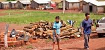 Acampamento indígena em Passo Grande do Rio Forquilha,RS