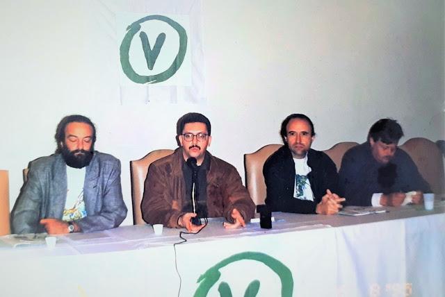 Reunião do Partido Verde - agosto de 1995. Domingos Fernandes é o terceiro a partir da esquerda (foto - arquivo AFPP).