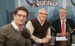 Ricardo Salles, Pinheiro Pedro e Zancopé Simões - Programa Gente que Fala - Rádio Trianon