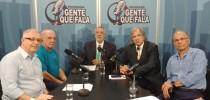 Programa Gente Que Fala - da esquerda para a direita: Fernando Pinheiro Pedro, Vitor Sapienza, Zancopé Simões, Faria Lima e Raul Jafet