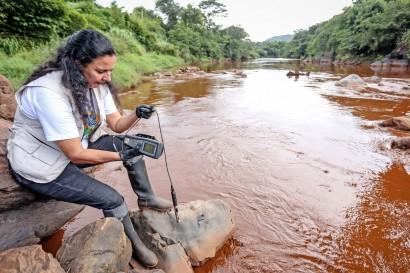 Rio Paraopeba atingido pelos rejeitos de Brumadinho
