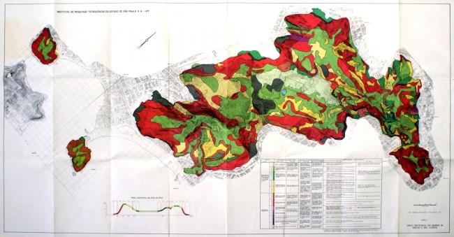 IPT desenvolveu a primeira carta geotécnica urbana do País, em 1980, nas áreas de morros de Santos e São Vicente