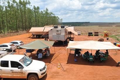 Escritórios móveis da Eldorado Brasil auxiliam na produção de papel e celulose. Créditos: Marina Ribeiro