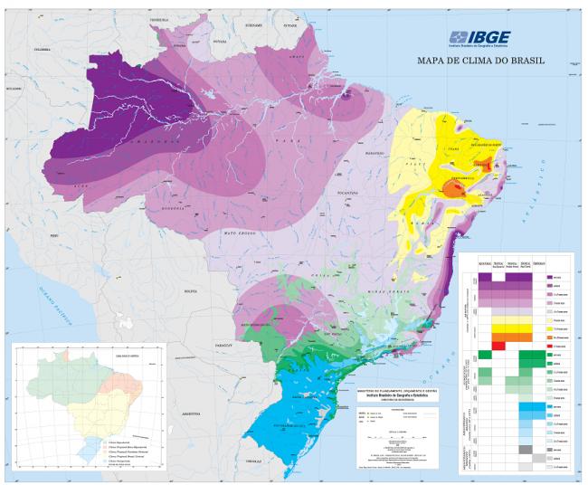 Mapa de clima ibge