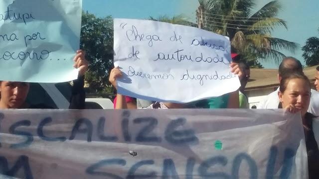 população de Matupi protesta contra o IBAMA. Alerta já havia sido dado...