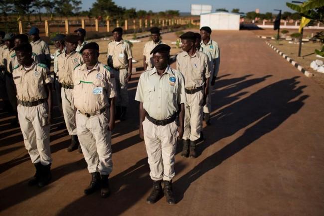 Guardas-florestais num centro de treinamento em Menongue, em Angola. Foto: ONU Meio Ambiente