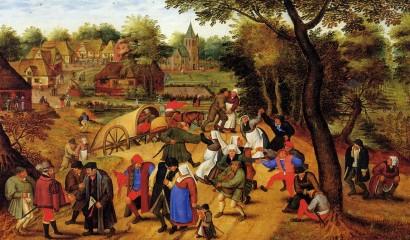 """PIeter Bruegel -  """"Retorno da Feira"""""""