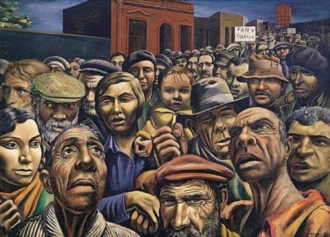 Pintura-sobre-trabalhadores-5-de-Antonio-Berni-La-Manifestación-1934.-Argentina