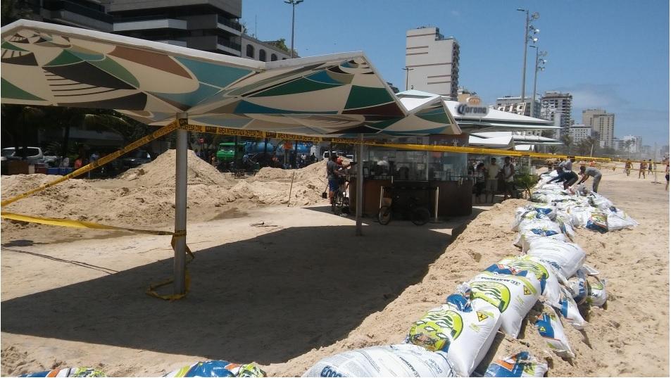 ...e também a Praia do Leblon, no Rio de Janeiro (Crédito foto: Michel Mekler, outubro de 2016).