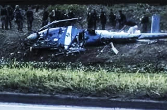 Helicóptero da PM cai próximo à Cidade de Deus e mata quatro militares