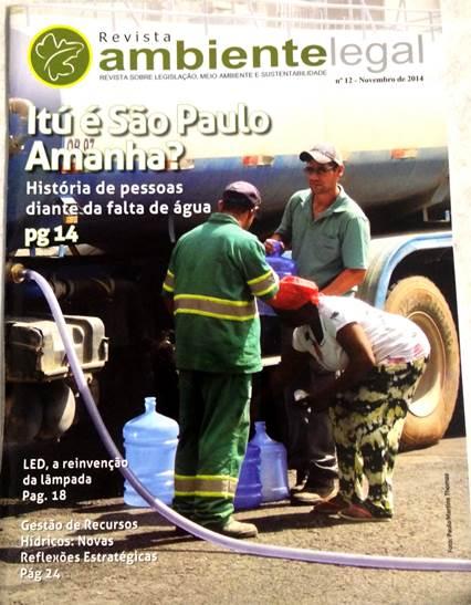 Capa da 12ª edição da versão impressa da Revista Ambiente Legal lançada na FIMAI - Feira Internacional de Meio Ambiente Industrial e Sustentabilidade.