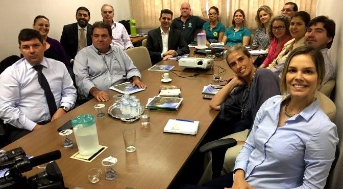 Reunião no Instituto de Meio Ambiente de Mato Grosso do Sul (Imasul). (foto divulgação)