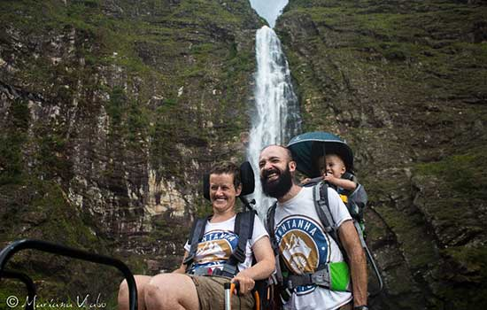 Juliana, Guilherme e Benjamin na Serra da Canastra,MG.