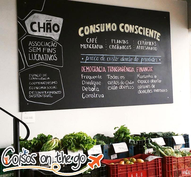 """Instituto Chão, sem fins lucrativos, os alimentos orgânicos são vendidos pelo preço do produtor, sem margem de lucro. (Imagem fornecida pela """"coisosonthego.com"""")"""
