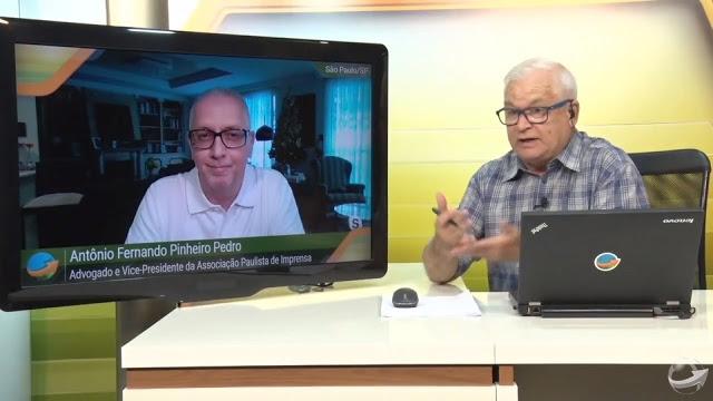 Pinheiro Pedro e João Batista Olivi no Canal Notícias Agrícolas - em 30 de dezembro de 2019