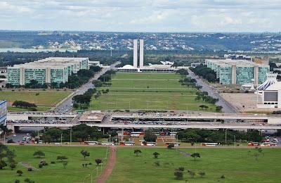 Eixo Monumental visto da Torre de Brasília