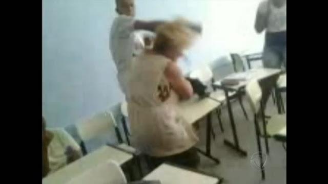 Professora agredida na sala de aula - descaso absoluto das autoridades para com a figura do mestre