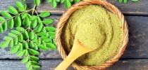 As folhas de moringa são ricas em vitaminas A, B e C, e mineirais; o Centro de Alimentos para o Futuro que popularizar cultivos esquecidos