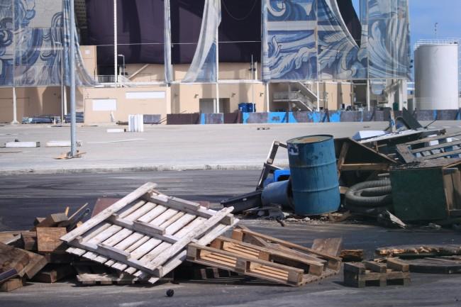 Estádio Aquático está com a sua estrutura quase inteira (Foto: Thierry Gozzer)