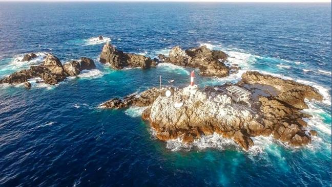 Arquipélago de São Pedro e São Paulo no litoral de Pernambuco.
