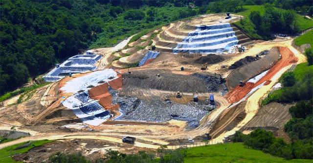 Um moderno aterro sanitário - obra que demanda escala e necessita investimentos