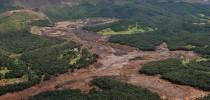 Lama da Vale em Brumadinho, na Região Metropolitana de Belo Horizonte — Foto: Ibama/Divulgação