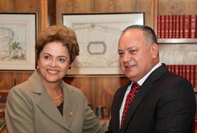 Diosdado Cabello - boas relações com Dilma e com o narcotráfico