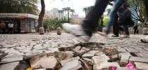 Calçadas de São Paulo estão em péssimo estado de conservação