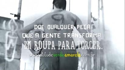 """Imagem do vídeo da campanha """"Vamos vestir o brasil de verde e amarelo""""."""