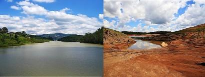 Sistema Cantareira, antes e agora.