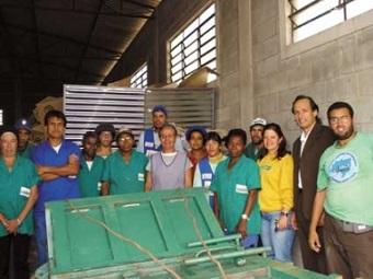 Catasampa, cooperativa que atua em três regiões de São Paulo (foto), uma das beneficiadas pelo Projeto Cataforte. Imagem: Reprodução/Cataforte