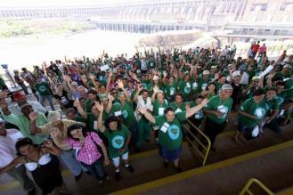Mais de 11 mil catadores foram foram capacitados pelo programa. (Imagem: Divulgação/ Itaipú Binacional)