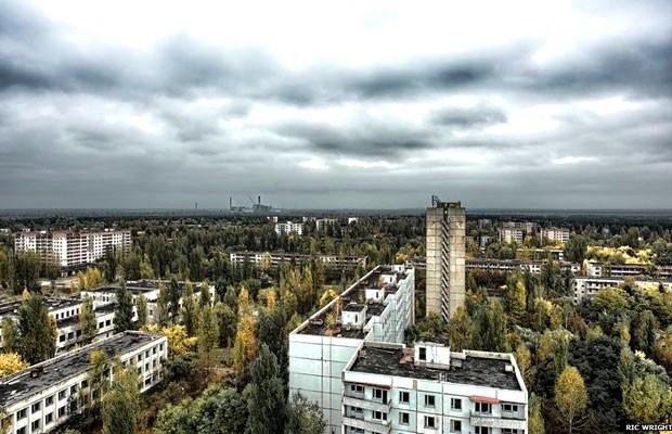 Chernobyl hoje é uma cidade fantasma