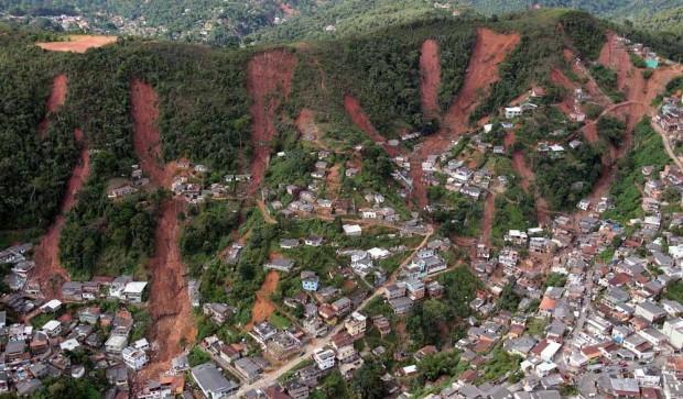 Áreas de risco em Nova Friburgo,RJ