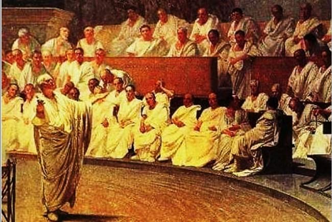 Cícero, no Senado Romano: a origem do termo e da deferência aos tribunos de Roma