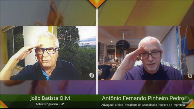É preciso parar de bater cabeça para começar a bater continência - diz Pinheiro Pedro a João Olivi no Notícias Agrícolas