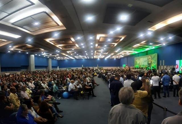 Convenção do PSL - presença maciça de filiados em apoio ao candidato Bolsonaro