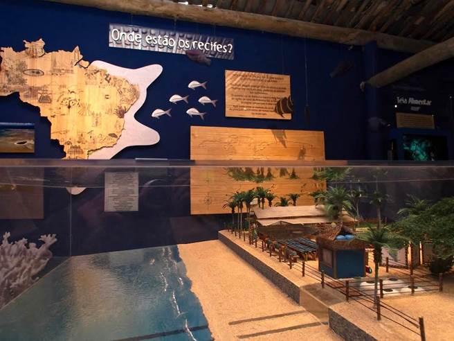 Maquete da Base de Pesquisas e Centro de Visitantes.