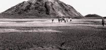 Cientistas russos chegam às crateras siberianas - aspecto de gargalos destampados de garrafas de champagne